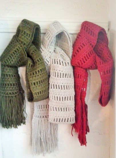 NFC Hand-crocheted Cold-weather Scarves